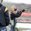 Burnsville High School junior Hailey Peterson shoots at a clay target during the Burnsville-Eagan-Savage Trap Shooting Club's first competition of the season on Wednesday, April 24 at Minneapolis Gun Club in Prior Lake.