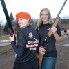 The Delano Tiger Trap team isn't just for the boys. Sophomore Kalley Johnson (left) and Kailyn Warne are two of the three girls on the team. Johnson is an established archery hunter who wants to learn how to gun hunt, while Warne is a veteran of gun hunting who wants to better her shooting skills.